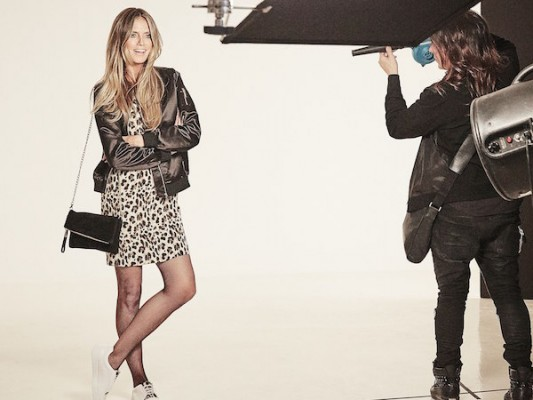 Heidi Klum poses in new clothing collection  Credit: Rankin/Lidl