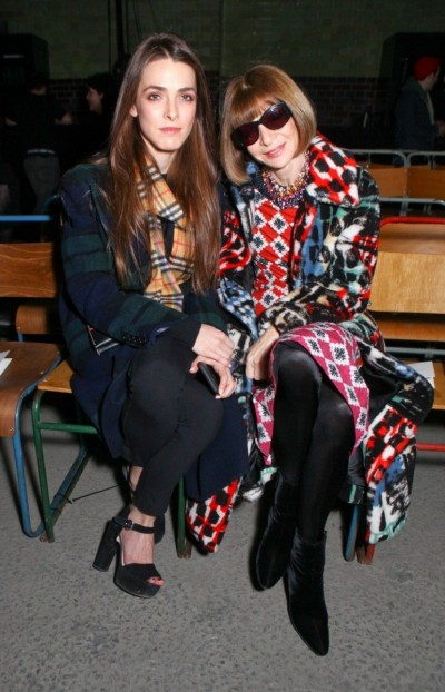 Bee Shaffer and Anna Wintour at the Burberry A/W 2018 show at London Fashion Week. 17/02/2018, Image: 363699340, License: Rights-managed, Restrictions: , Model Release: no, Credit line: Profimedia, TEMP Camerapress