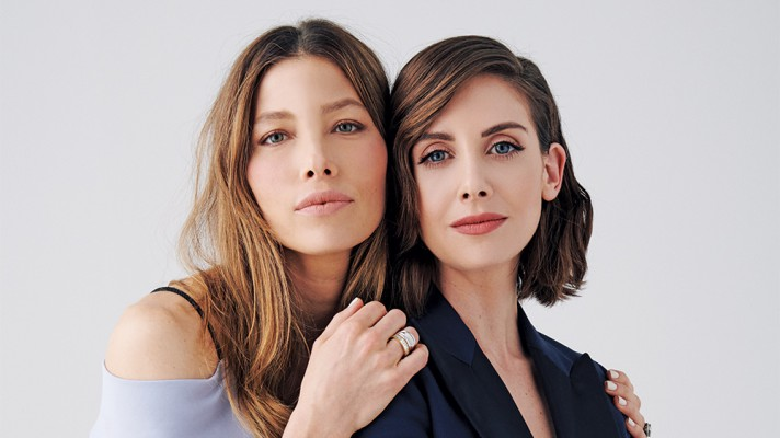 Jessica Biel (L) and Alison Brie - Variety's Actors on Actors - Photograph by Peter Yang, Losa Angeles, CA on April 28, 2018